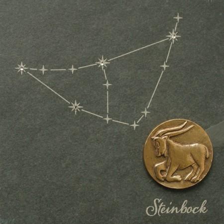 sternzeichen steinbock im zeichen der sterne bronze und schiefer wandbild ebay. Black Bedroom Furniture Sets. Home Design Ideas