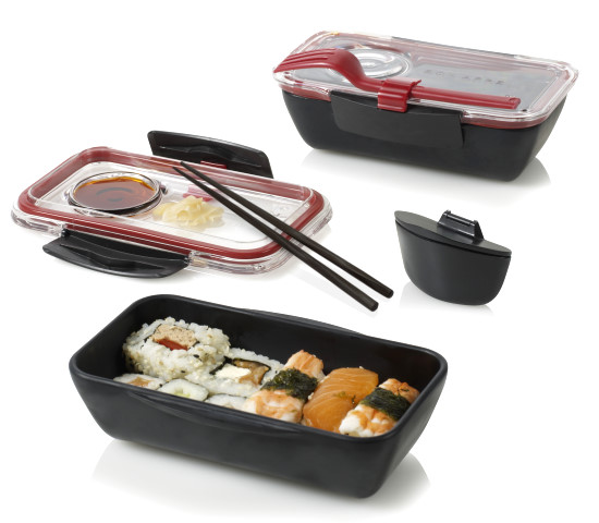 bento box by black blum design lunchbox sushibox schwarz rot ebay. Black Bedroom Furniture Sets. Home Design Ideas