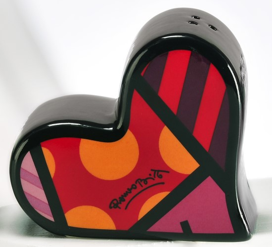 Romero Britto Salt & Pepper Set Hearts