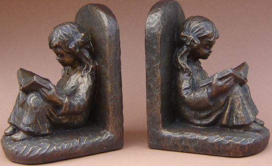 Book Ends Reading Girl