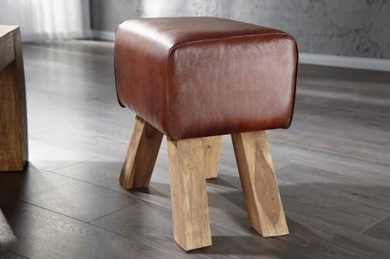 sitzhocker bock leder. Black Bedroom Furniture Sets. Home Design Ideas