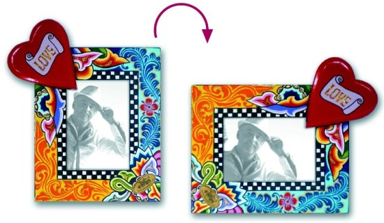 Toms Drag Picture Frame Heart