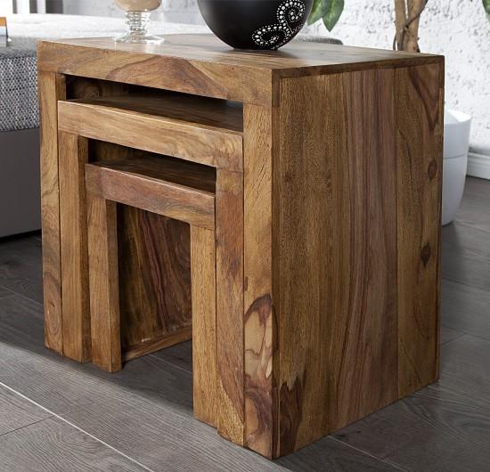 Beistelltisch madeira 3er set for 3er beistelltisch