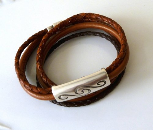 Bracelet Bobby - leather brown