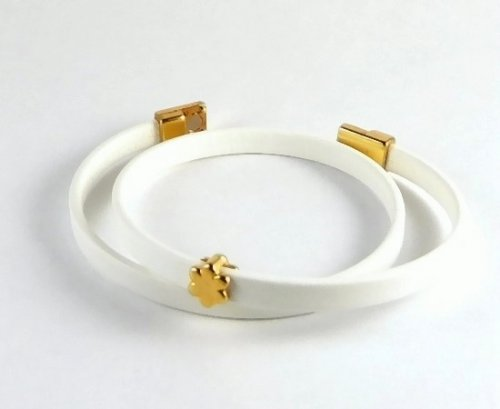 Armband Betty - weiss/gold