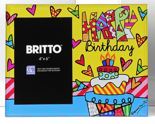 BRITTO Glas Bilderrahmen Happy Birthday