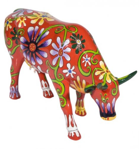 Flower Lover Cow (L) - Cowparade