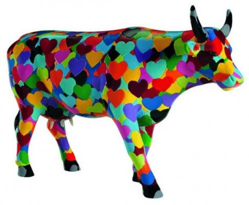 Heartstanding Cow (L) - Cowparade