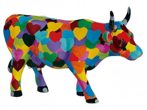 Cowparade - Heartstanding Cow (M)