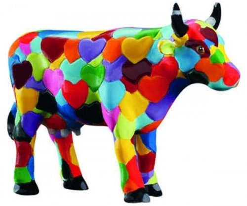 Heartstanding Cow (S) - Cowparade