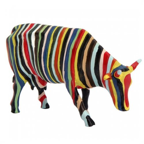 Striped Cow (S) - Cowparade Mini Kuh