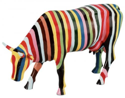 Striped Cow (L) - Cowparade #va