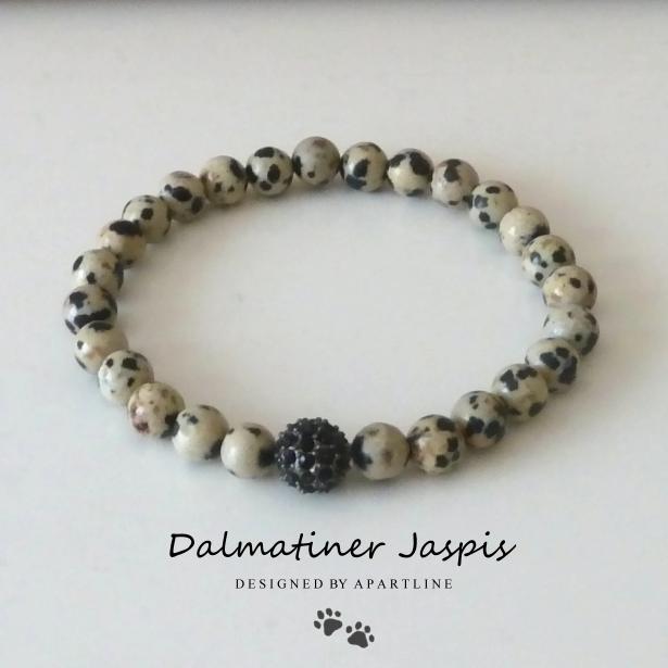 Armband Dalmatiner Jaspis