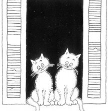 Albert Dubout Cats atrappe moi