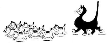 Albert Dubout Cats - Cat Nap