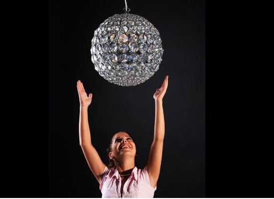 Hängelampe Crystal Ball