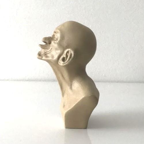 Romero Britto Mini// Miniature 3D Figurine Elephant With Orange Crown