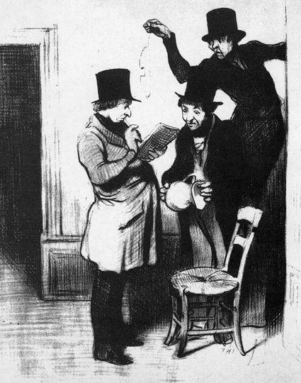 Honore Daumier - Gerichtsvollzieher