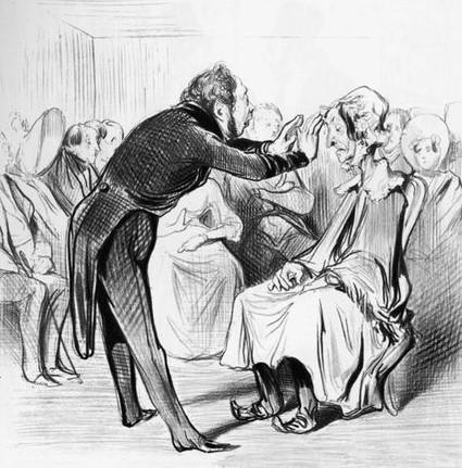 Honore Daumier - Hypnotiseur