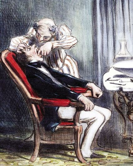 Honore Daumier - Zahnarzt