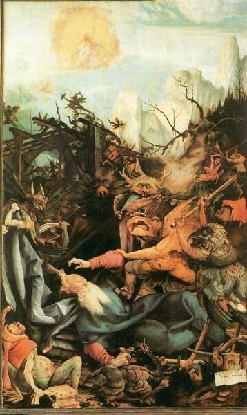Isenheimer Altar - Die Versuchung des heiligen Antonius