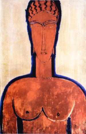 Grand Buste Rouge - Amedeo Modigliani