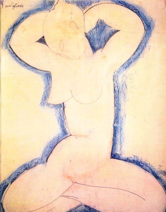 Amadeo Modigliani - Karyatide