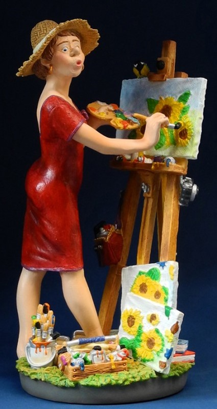Profisti Skulptur Kunstmalerin