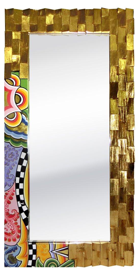 Toms Drag Art - Spiegel Golden Wood