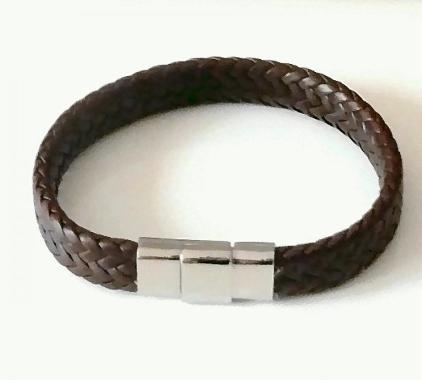 Armband Bracelet Stern cognac braun Star Magnet Gesamtlänge 40 cm