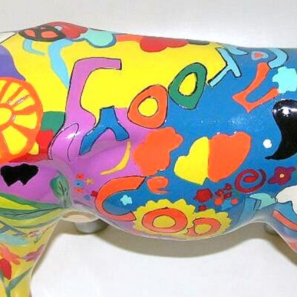 Cowparade  - Groovy Moo (L)