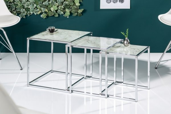 Couchtisch Elements 3er Set - Marmoroptik