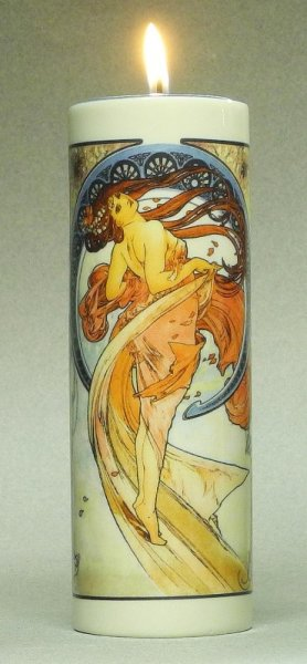 Tealightholder Mucha - The Arts