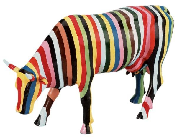 Striped Cow (L) - Cowparade